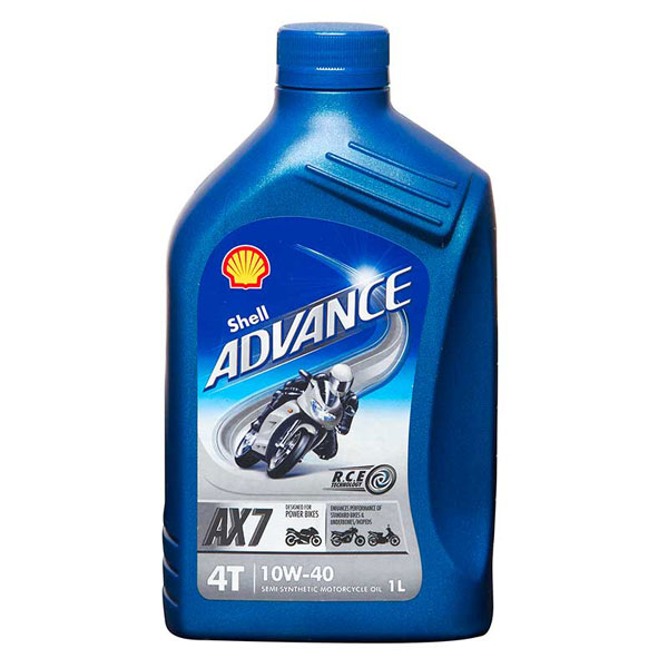 Shell Advance 4T AX7 Engine Oil - 10W-40 - 1ltr