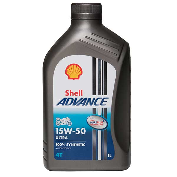 Shell Advance 4T Ultra 15W-50 - Engine Oil - 1ltr
