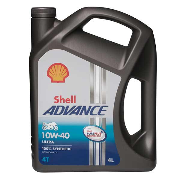 Shell Advance 4T Ultra 10W-40 Fully Synthetic - 4ltr
