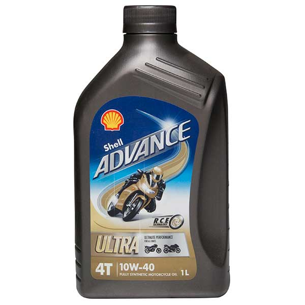 Shell Advance 4t Ultra 10w 40 Engine Oil 1ltr