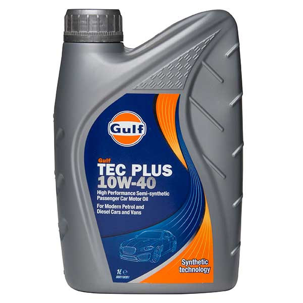 Gulf Tec Plus Engine Oil - 10W-40 - 1ltr
