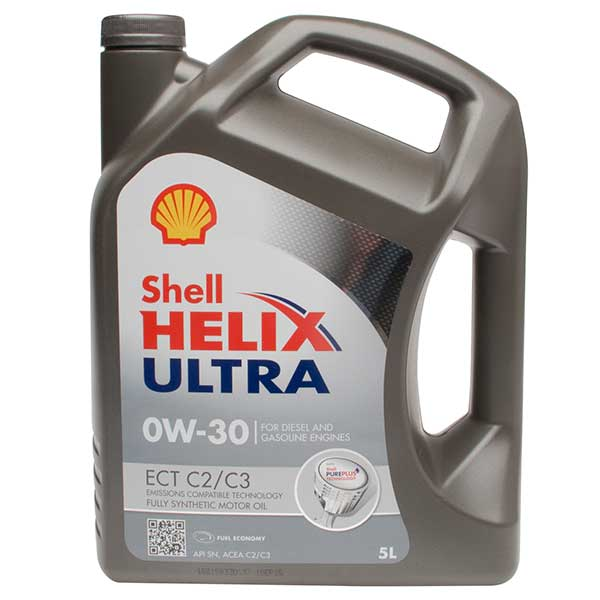 Shell Helix Ultra ECT (C2/C3) Engine Oil - 0W-30 - 5ltr
