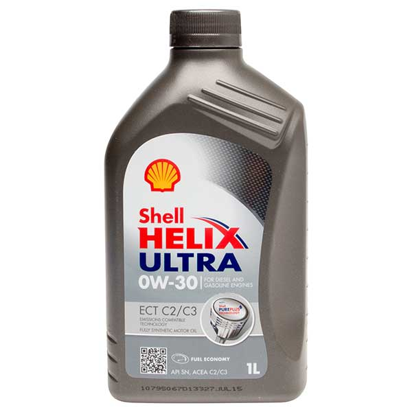 Shell Helix Ultra ECT (C2/C3) Engine Oil - 0W-30 - 1ltr