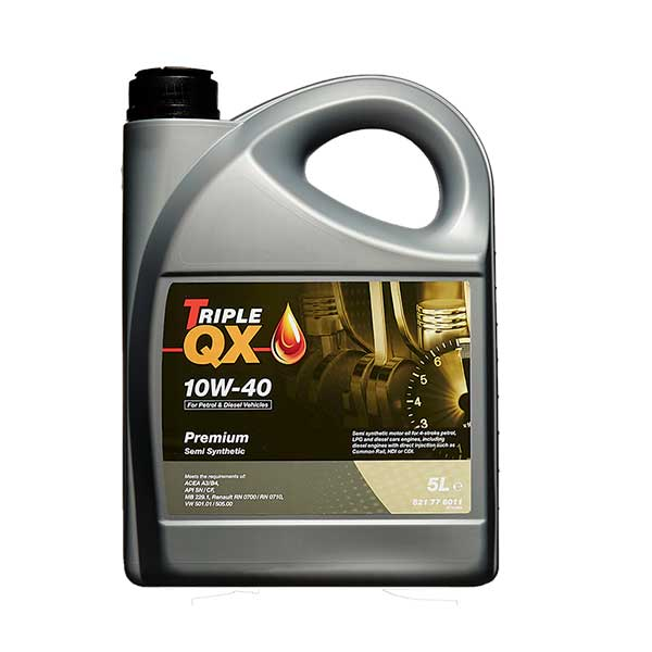 TRIPLE QX 10w40 Semi Synthetic Engine Oil - 5ltr