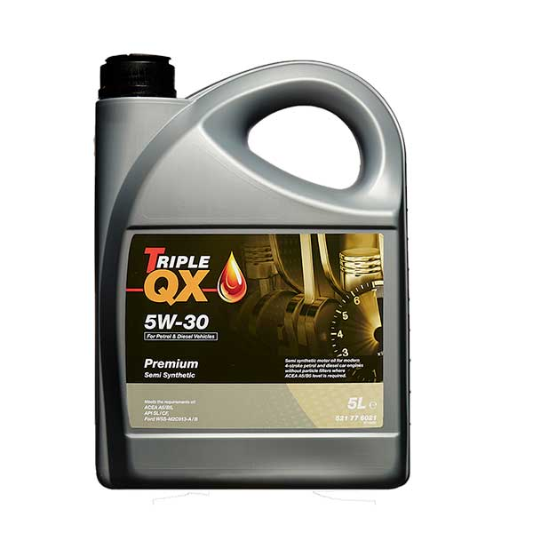 Triple Qx Semi Synthetic Engine Oil 5w 30 5ltr Euro Car Parts