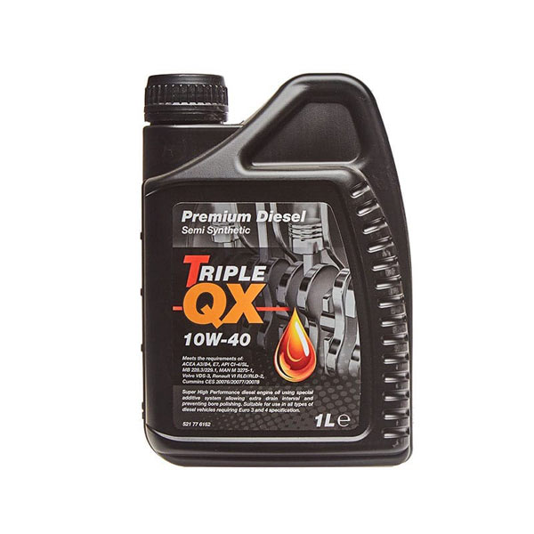TRIPLE QX Semi Synthetic Diesel Engine Oils - 10W-40 - 1ltr