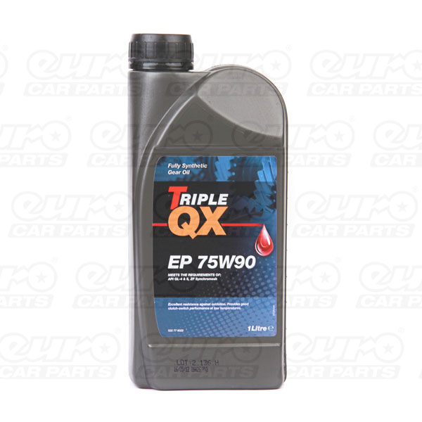 TRIPLE QX EP 75w90 Transmission Fluid Fully Syn 1 Litre