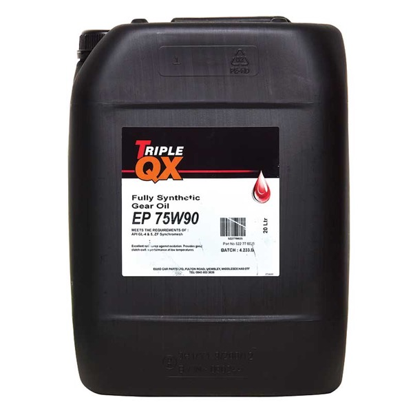 TRIPLE QX EP 75w90 Transmission Fluid Fully Syn 20 Litre