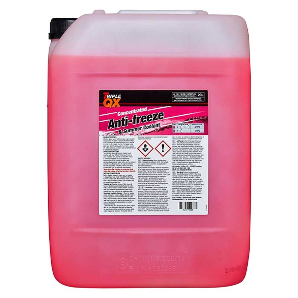 TRIPLE QX Red (Concentrate) Antifreeze/Coolant 20Ltr