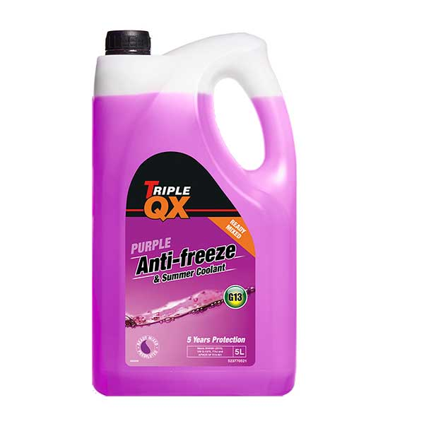 TRIPLE QX Purple Ready Mixed Antifreeze/Coolant (G13) 5Ltr
