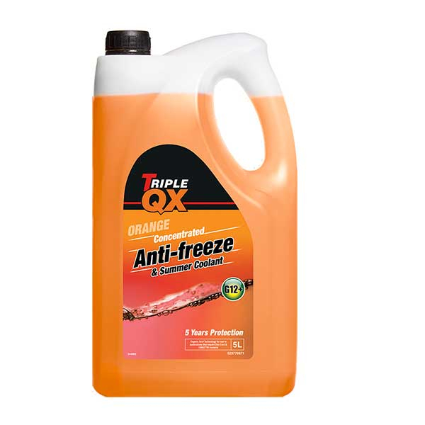 TRIPLE QX Orange Concentrated Antifreeze/Coolant - 5ltr