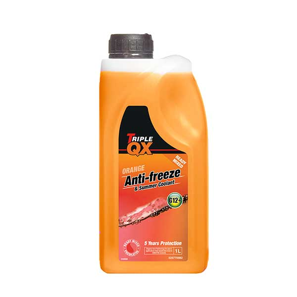 TRIPLE QX Orange Ready Mixed Antifreeze/Coolant - 1ltr