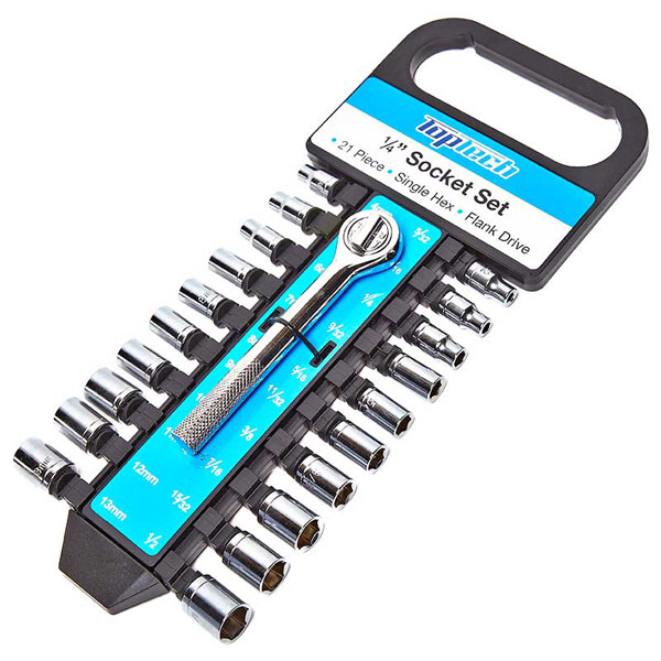 "Top Tech 1/4"" Drive 20pc Socket Set"