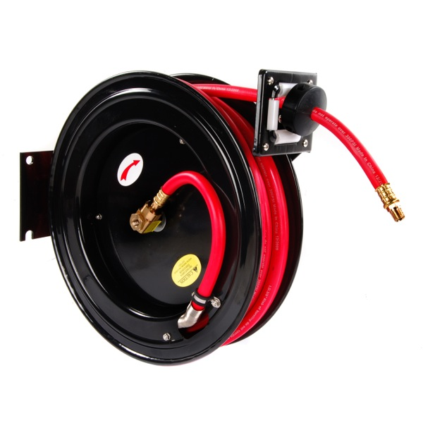 "Top Tech Retractable Air Hose (METAL) 15MTR 3/8"" Hose"