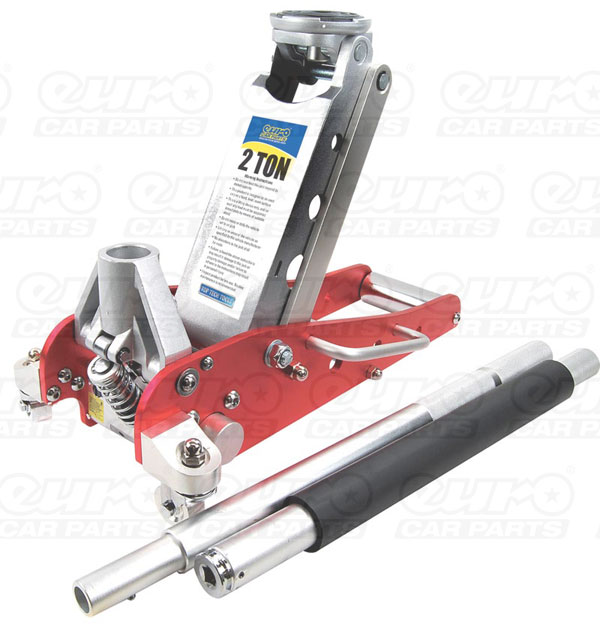 Top Tech Aluminium Trolley Racing Jack - 2 Tonne with 7 Pump Lift