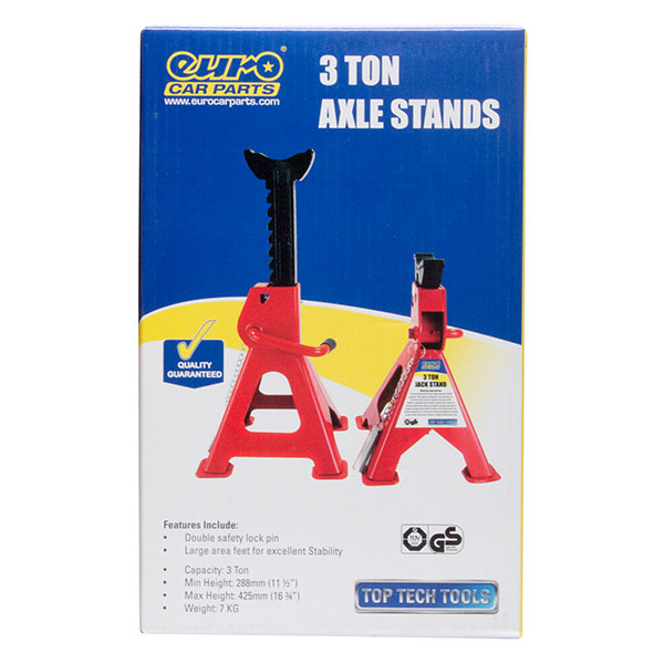Top Tech Ratchet Axle stands 3 ton capacity (per pair)