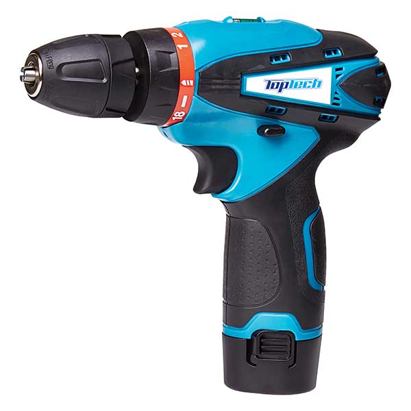 Double-Speed 12V Drill With Battery & Charger