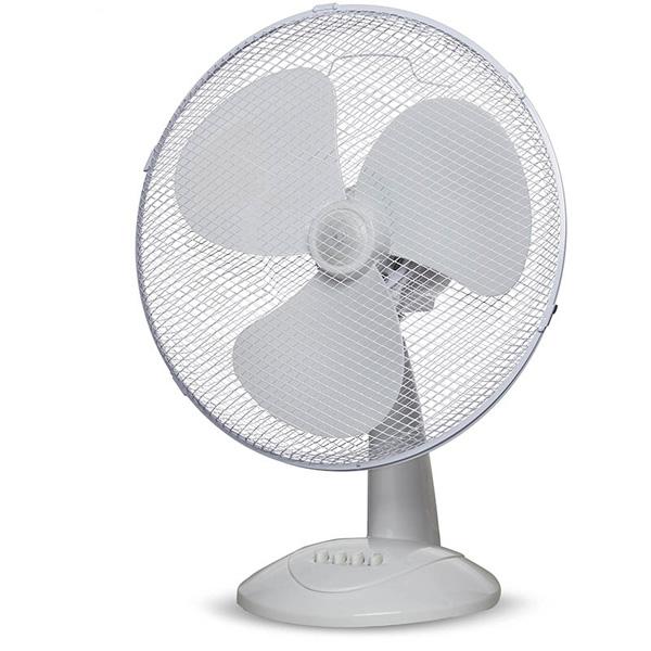 """Top Tech 16"""" Oscillating 3 Speed Desk Fan"""