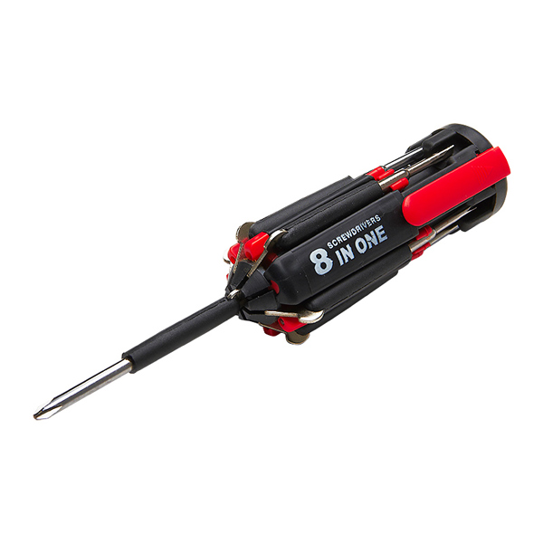 Top Tech 8 in 1 Multifunction Screwdriver with integrated LED Torch