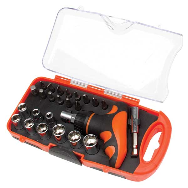 Top Tech 25 Pc Handy Socket Set in storage case