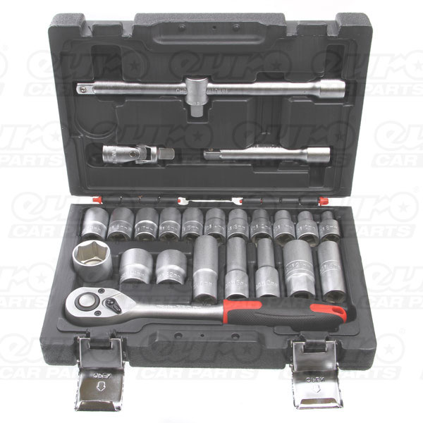 MASTERPRO 24 piece 1/2 drive socket set