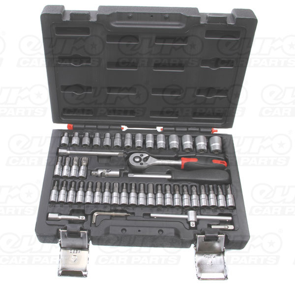 MASTERPRO 50 piece 1/4 drive socket set