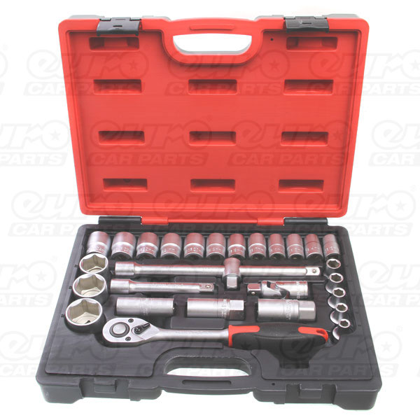 MASTERPRO 28 piece 1/2 drive socket set 72 Teeth R