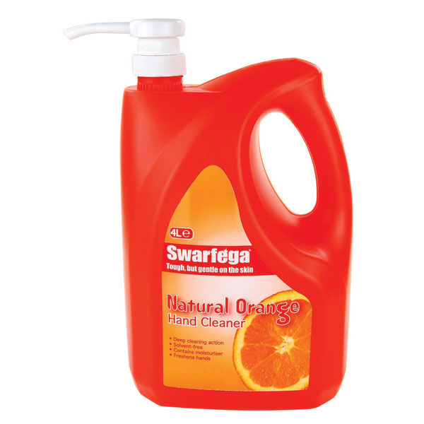 Swarfega Natural Orange 4Ltr With Built In Pump