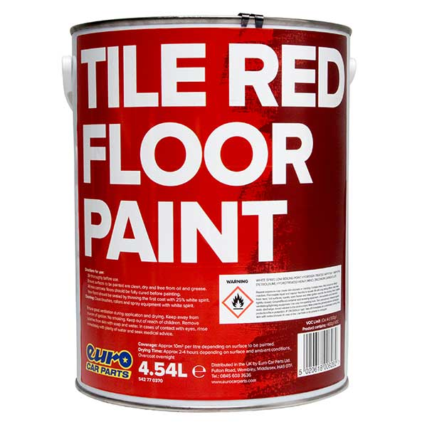 Euro Car Parts Floor Paint Red 5L