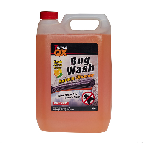TRIPLE QX Ready Mixed Summer Bug Wash Screenwash (5Ltr)