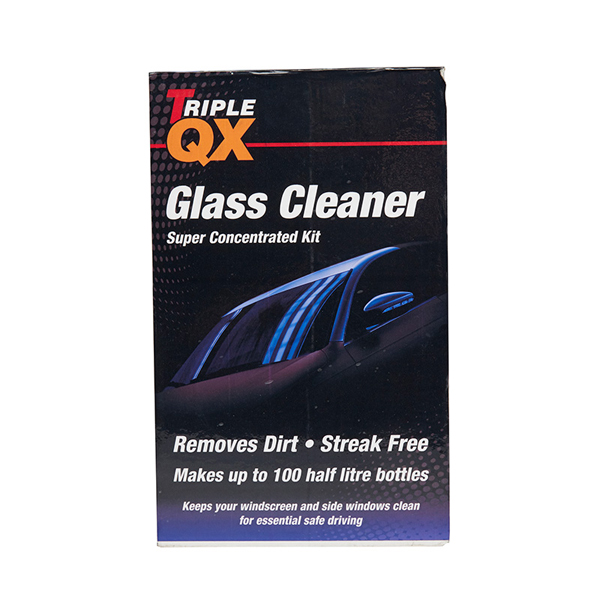 TRIPLE QX Super Concentrated Glass Cleaner 1ltr + Trigger Bottle