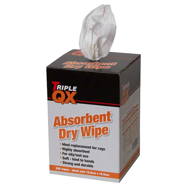 TRIPLE QX Honeycomb Absorbing 200 Dry Wipes