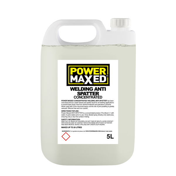 Powermaxed Anti Spatter RTU Concentrate 5Ltr