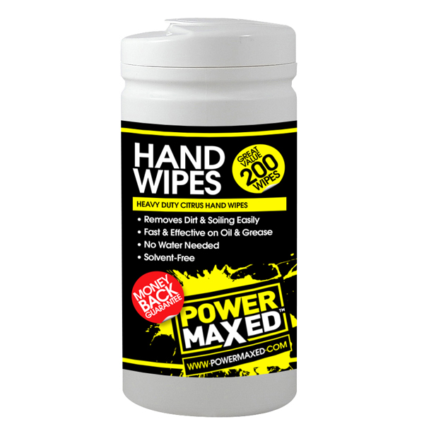 Powermaxed Heavy Duty Citrus Hand Wipes