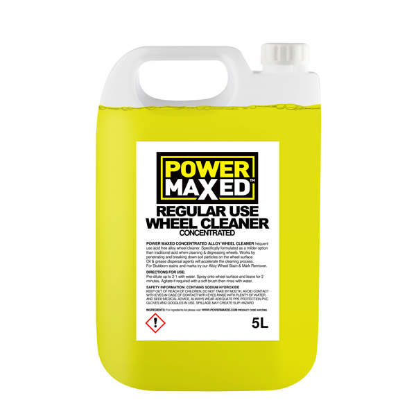 Powermaxed Frequent Use Non Acid Wheel Cleaner - 5Ltr