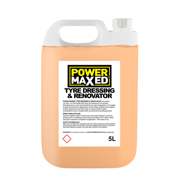 Powermaxed Tyre Dressing & Rennovator - 5Ltr