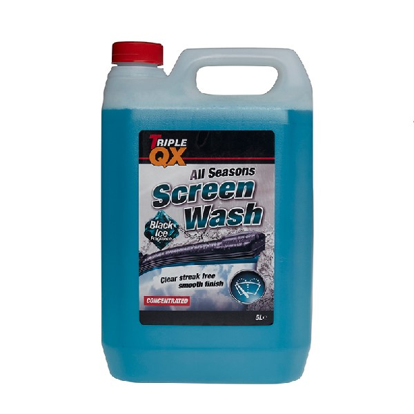 TRIPLE QX -7c All Season Screenwash (Black Ice Fragrance) - 5ltr
