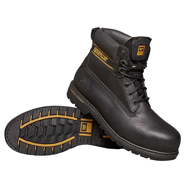 Holton (black) - Safety Work Boots  - Size 7