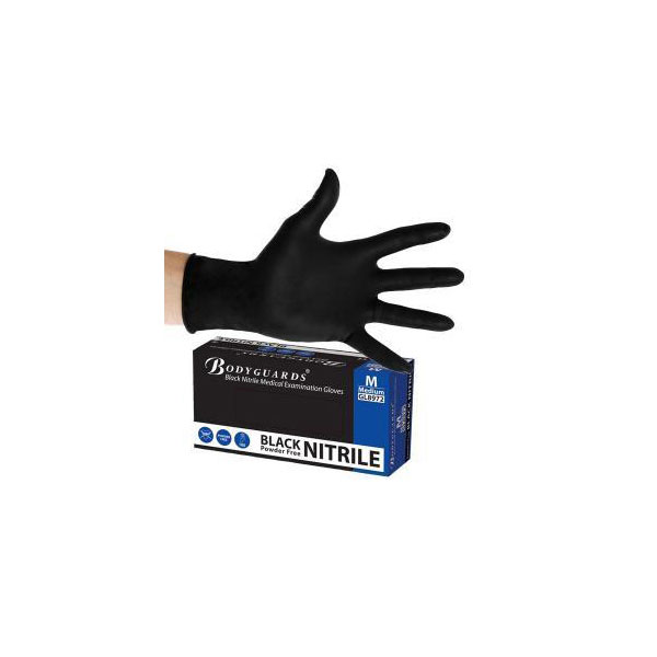 Bodyguard Black Nitrile Gloves Extra Large (Box Of 100)
