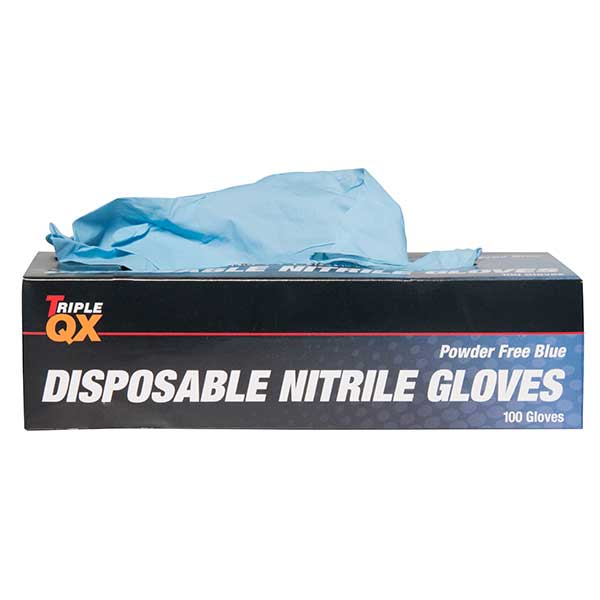 TRIPLE QX Box Of 100 Ecp P/ Free Nitrile Gloves Large