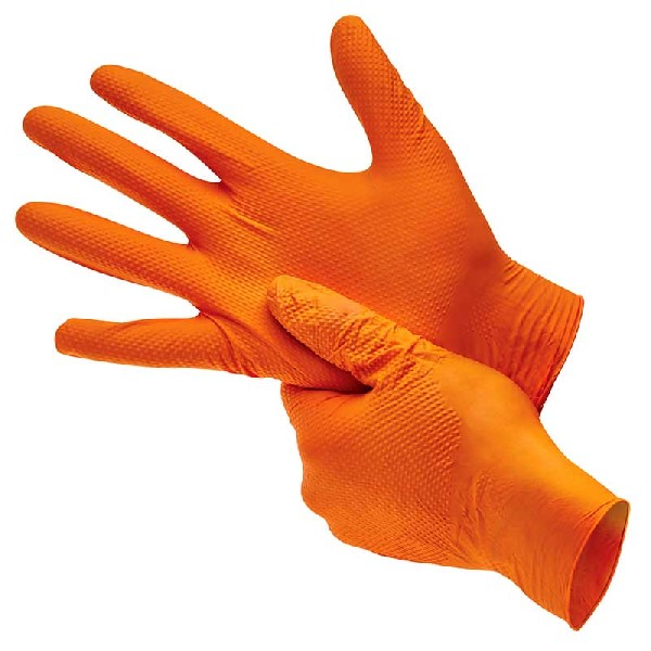Bodyguard Box Of 90 Orange Heavy Duty Nitrile Large GL2003