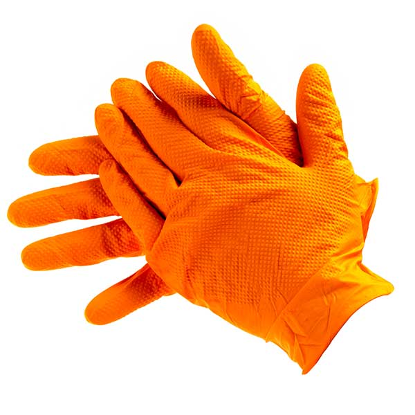 Bodyguard Box Of 90 Orange Heavy Duty Nitrile X Large Gl2005
