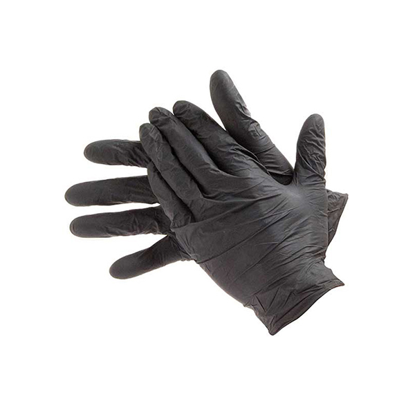 TRIPLE QX Powder Free Nitrile Gloves Black - Small (Qty 100)