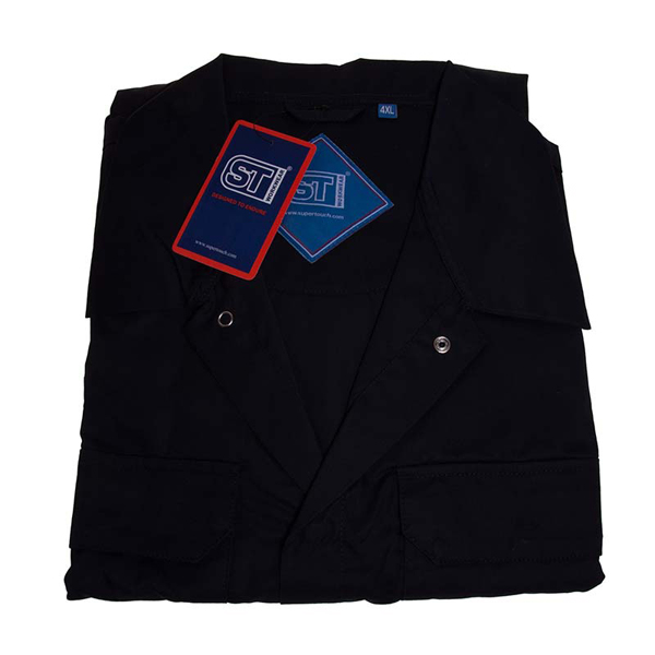 Polycotton Coverall Navy 4XL Regular Leg (79cm) Chest Size(148-152cm