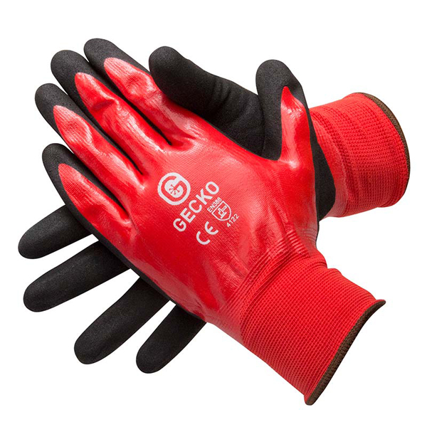 Gecko Oil Proof High Grip Gloves (Pair) - Size 10 Extra Large