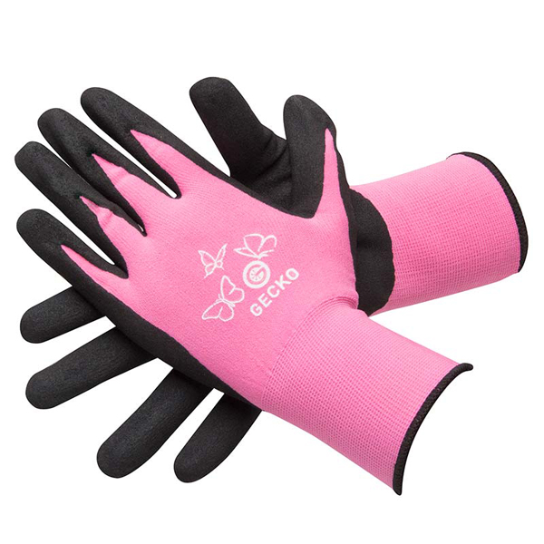 Gecko Pink High Grip Mechanics Gloves (Pair) - Medium