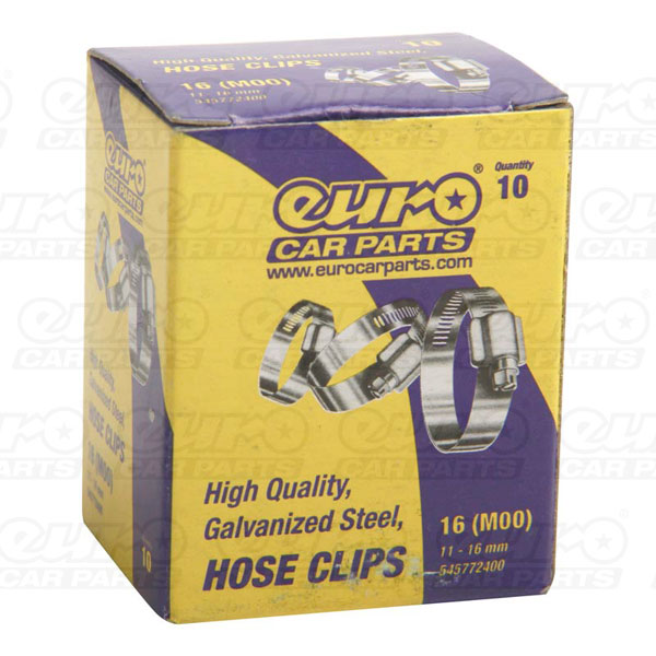 Euro Car Parts Hose Clips MOO 11-16mm Qty10