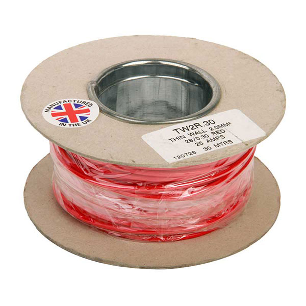 Red 30 Mtr Auto Cable 14/0.03mm