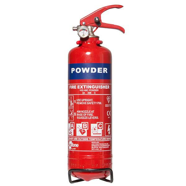 Euro Car Parts 1Kg Abc Powder Fire Extinguisher With Gauge