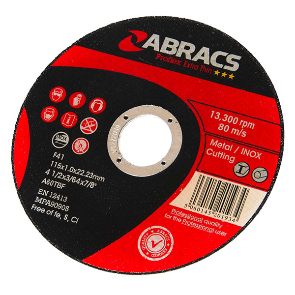 Proflex Thin Cutting Disc 115mm X 1.0mm X 22mm Flat Inox